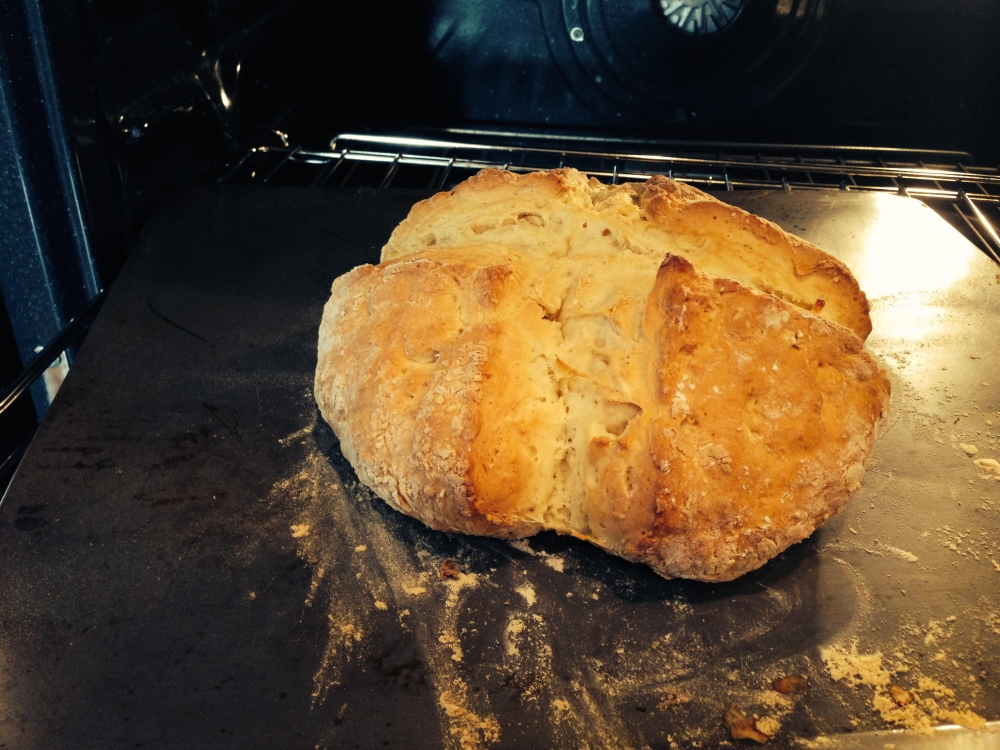 If you bread needs a little longer to bake, it is ok to turn it upside down in the oven.