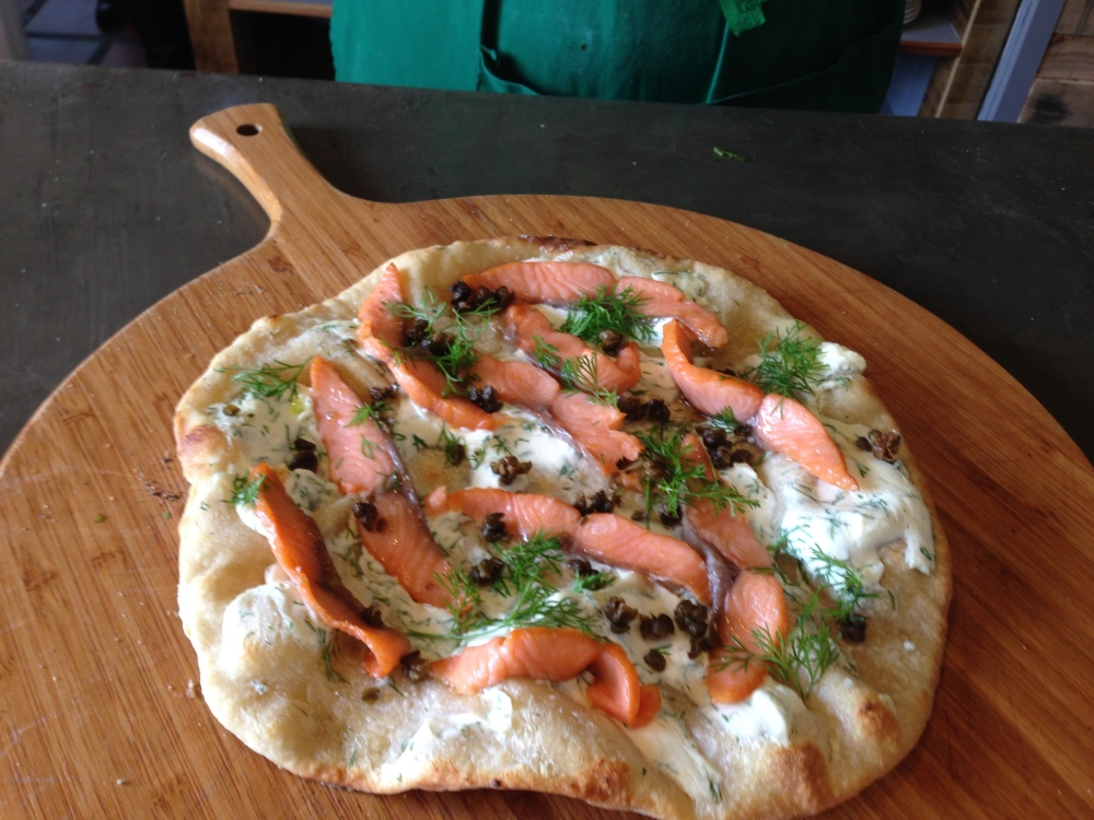 Breakfast Pizza with Smoked Salmon and Cream Cheese