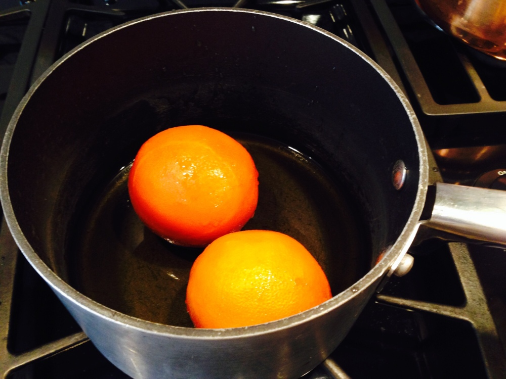 BOILING WHOLE ORANGES